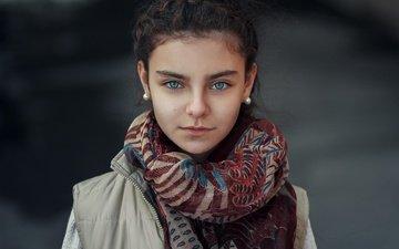 глаза, портрет, взгляд, девочка, фотограф, шарф, жанибек бакыт, janibek bakyt