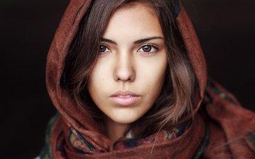 глаза, девушка, взгляд, платок, шарф, кареглазая, лея кайназарова, жанибек бакыт, janibek bakyt, палантин
