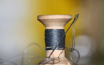 background, needle, thread, coil
