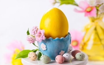 flower, spring, easter, eggs, holiday, egg