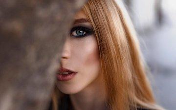 девушка, взгляд, волосы, лицо, макияж, даша жульковская