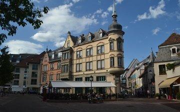 улица, архитектура, здание, франция, франци, кольмар
