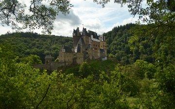 природа, панорама, замок, германия, на природе, burg eltz, замок эльц, castle eltz, chateau d'eltz, виршем