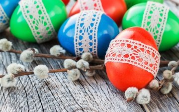 branches, easter, eggs, holiday, verba