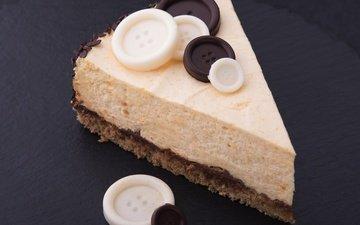 шоколад, сладкое, торт, десерт, в шоколаде, пуговицы, сладенько, крем