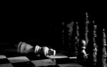 chess, black and white, figure, the game