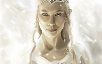 art, girl, elf, the lord of the rings, diadema, galadriel, of galadriel