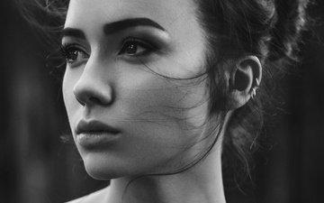 девушка, портрет, взгляд, чёрно-белое, фотограф, мэри, анастасия лис