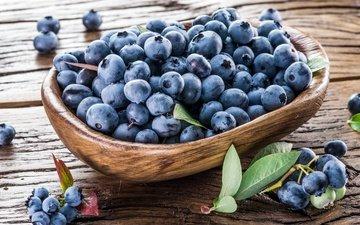 ягоды, лесные ягоды, черника, корзинка, дерева, парное, черничный