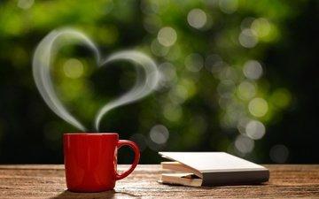 утро, кофе, чашка, романтик, горячая, влюбленная, доброе утро, сердечка, coffee cup