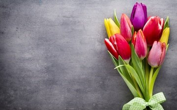 цветы, букет, тюльпаны, тульпаны, цветы, весенние, пинк, красочная