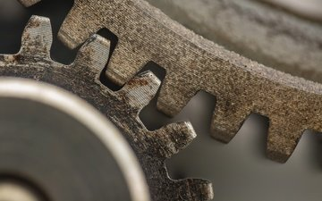 metal, macro, background, gear
