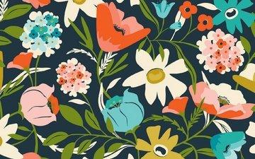 цветы, текстура, фон, цвет