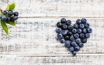 ягоды, черника, романтик, дерева, парное, влюбленная, черничный, сердечка