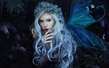 style, girl, look, fairy, hair, wreath, wings, bella kotak, jessica dru, violet dreams