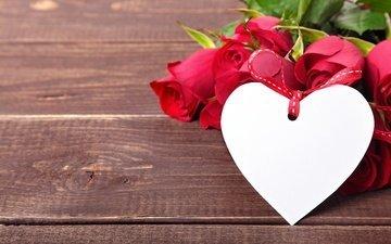 цветы, розы, сердце, букет, романтик, дерева, роз, влюбленная, сердечка, valentine`s day