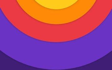 линии, краски, цвет, круг, дуга, слой