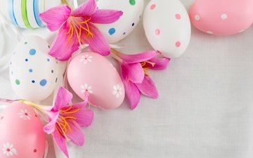 flowers, spring, easter, eggs, the painted eggs