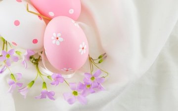 flowers, easter, the painted eggs