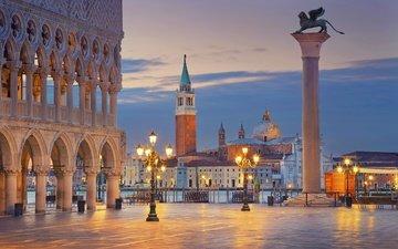 города, панорама, город, венеция, италия, путешествия, европа, взляд, cityscape, площадь сан марко, sun marco square