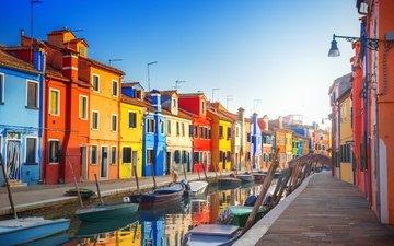 города, панорама, город, лодки, венеция, канал, улица, италия, путешествия, европа, взляд, cityscape, canal
