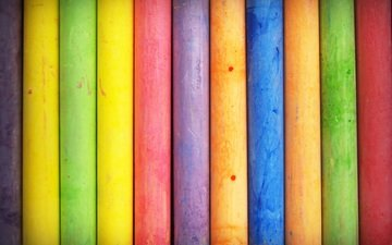 color, colorful, rainbow, crayons, mel