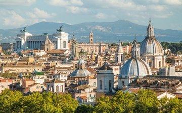 города, панорама, город, италия, путешествия, европа, рим, взляд