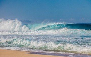 берег, волны, море, пляж, океана