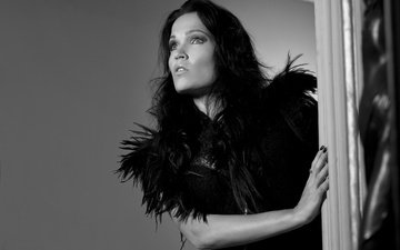 black and white, singer, composer, pianist, tarja, tarja turunen, finnish, rock singer