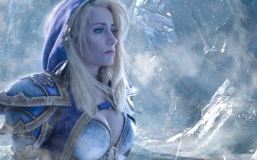 warcraft, world of warcraft, blonde, cosplay, girl, jaina proudmoore, mahou