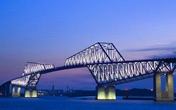 bridge, japan, tokyo