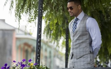 glasses, actor, costume, tie, vest, will smith, tie.glasses