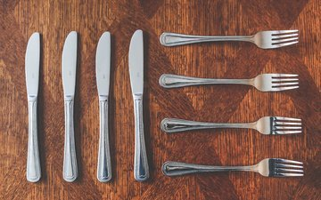 knives, fork, cutlery