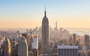 небоскребы, сша, нью-йорк, здания