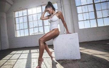 поза, фитнес, без задних ног, модел, nathalie mur