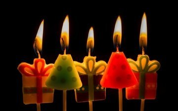 candles, background, happy birthday