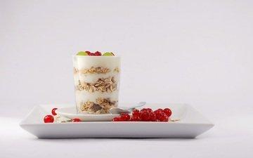 виноград, завтрак, молоко, десерт, ложка, смородина, мюсли, изюм, soorelis