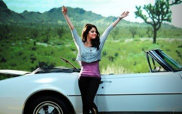 nature, brunette, actress, singer, car, celebrity, selena gomez