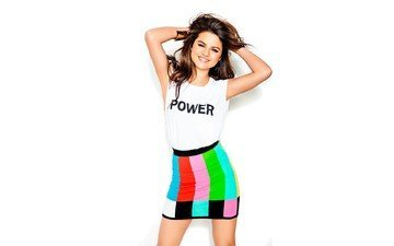 pose, smile, journal, photoshoot, selena gomez, seventeen