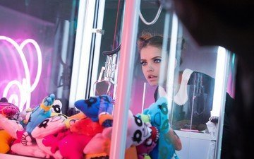 девушка, взгляд, модель, волосы, игрушки, барбара палвин