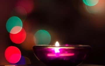 light, fire, glare, candle, holiday