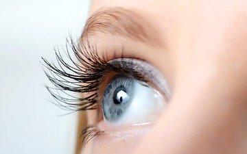 глаза, девушка, лицо, ресницы