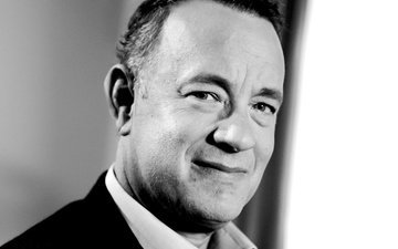 smile, look, black and white, actor, face, male, american, tom hanks