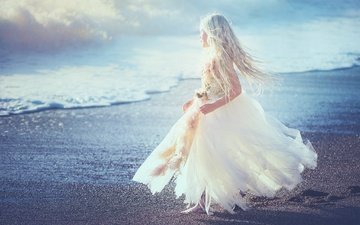 берег, платье, дети, девочка, edie layland, blue heaven