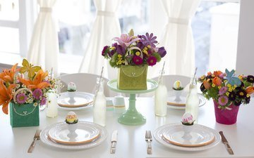 flowers, easter, decor, bouquets