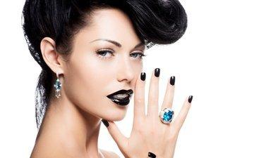 девушка, модель, кольцо, губы, украшение, сережки
