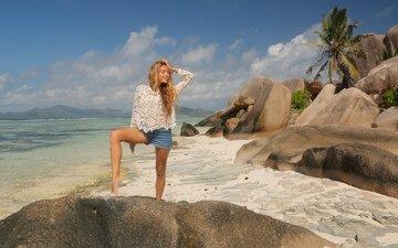 фон, поза, улыбка, пляж, ножки, волосы, актриса, певица, телеведущая, регина тодоренко