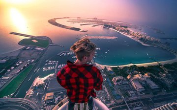horizon, the city, guy, extreme, dubai, uae