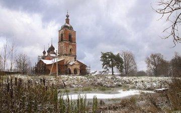 храм, деревня, россия, церковь