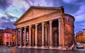 италия, здание, колонны, рим